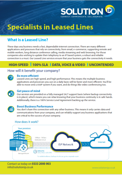 Leased Lines Your Very Own High Speed Connection