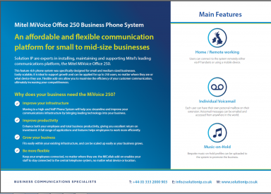 Mitel MiVoice Office Brochure
