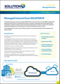 Solution IP Managed Internet Data Sheet